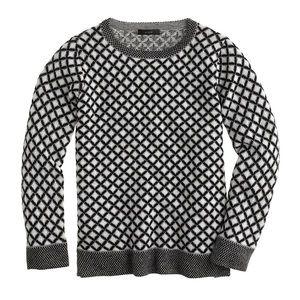 J Crew Collection cashmere diamond sweater XS